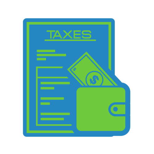 loan tax credit icon