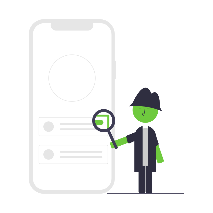 detective inspecting a phone