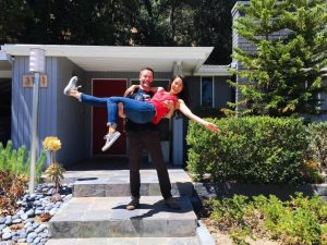 couple super excited about their first home