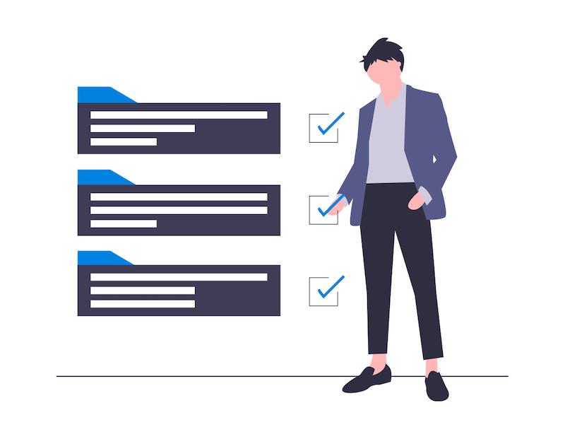 irs checklist concept