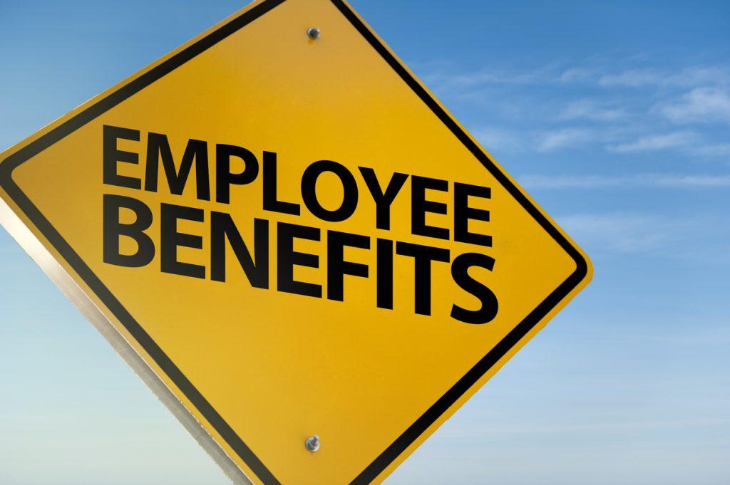 Employee benefits sign