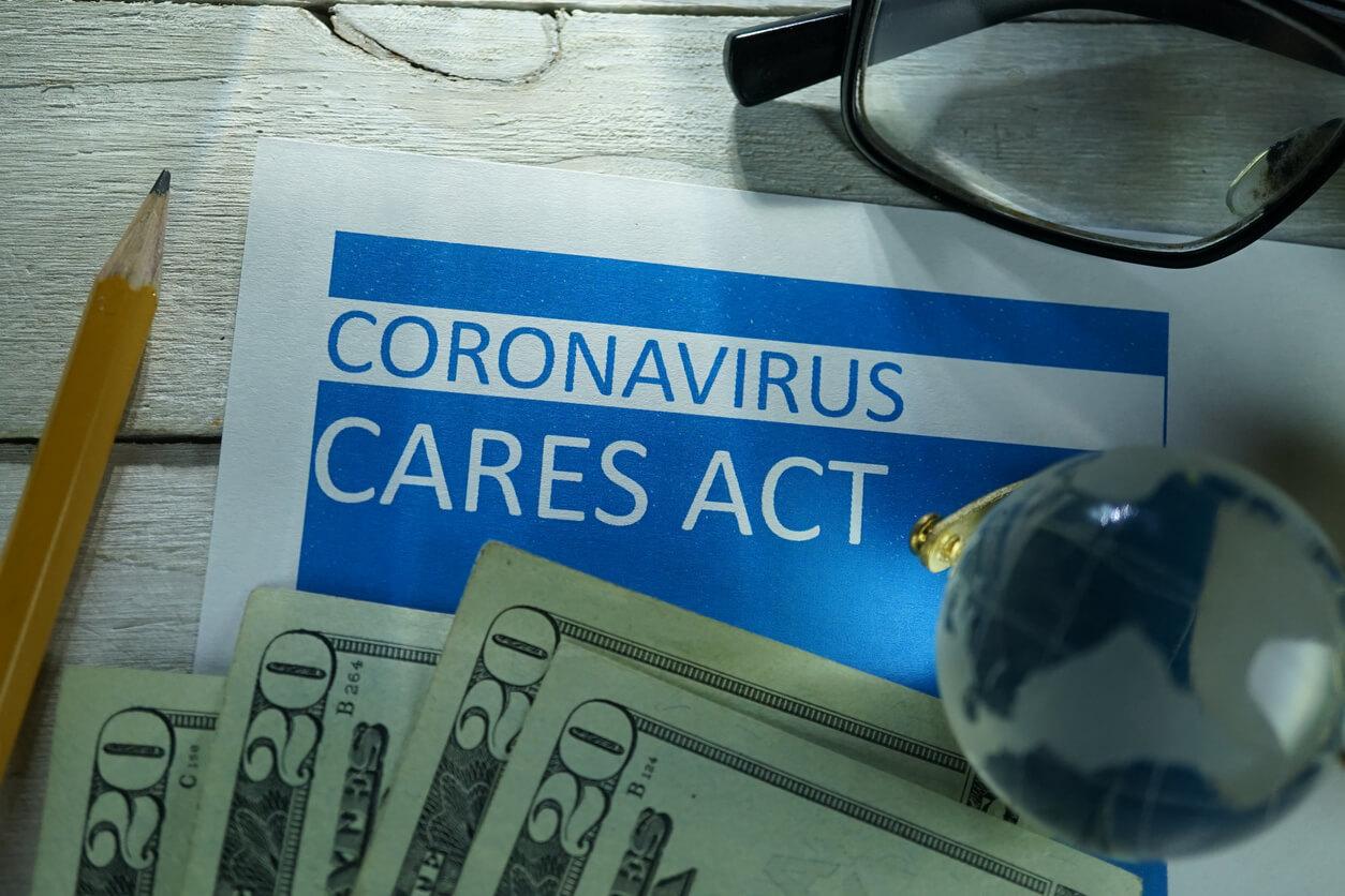coronavirus cares act concept
