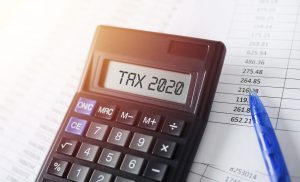 2020 tax refund calculations being completed.