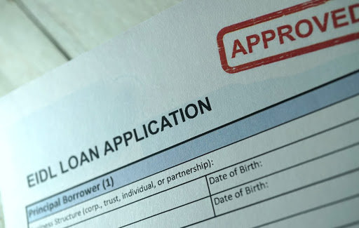 Approved EIDL loan application.