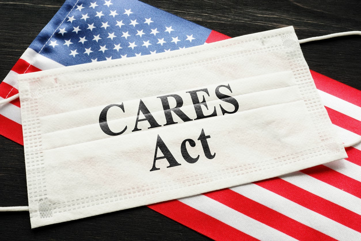 American CARES Act concept.
