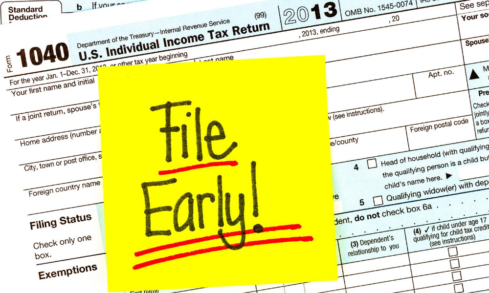 late 2020 tax refund after filing early