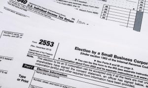 IRS Form 2553: Election by an S Corporation.