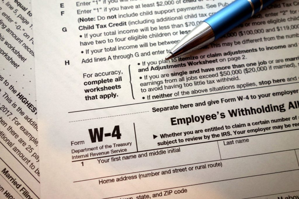 Unfiled form w-4