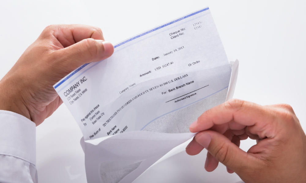 receiving check from the lost wages assistance program