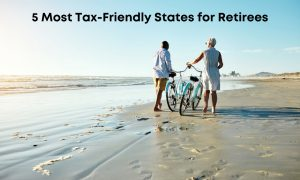 an elderly couple who live in one of the tax friendly states for retirees