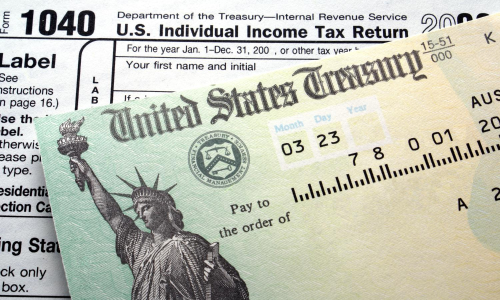 tax refund find change address
