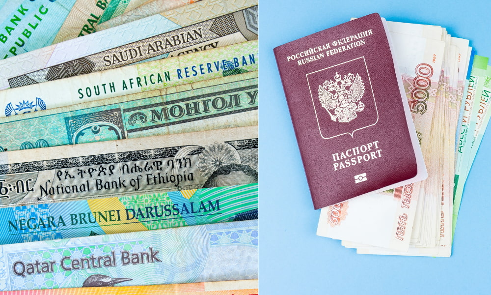 foreign bank account checks and money