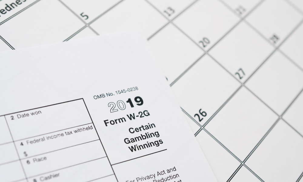 unfiled form w-2g