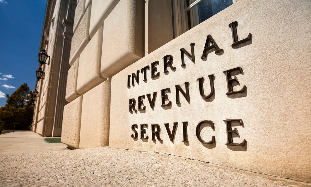 front of the irs where they hold the taxpayer bill of rights