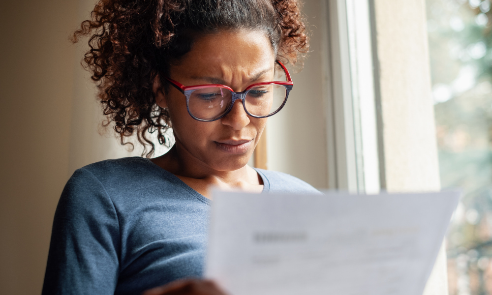 woman owing debt requesting partial payment installment agreement