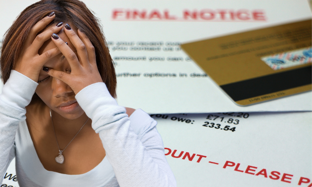 upset student facing student loan wage garnishment