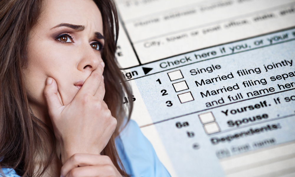 spouse debating filing status before filing the irs form 8857