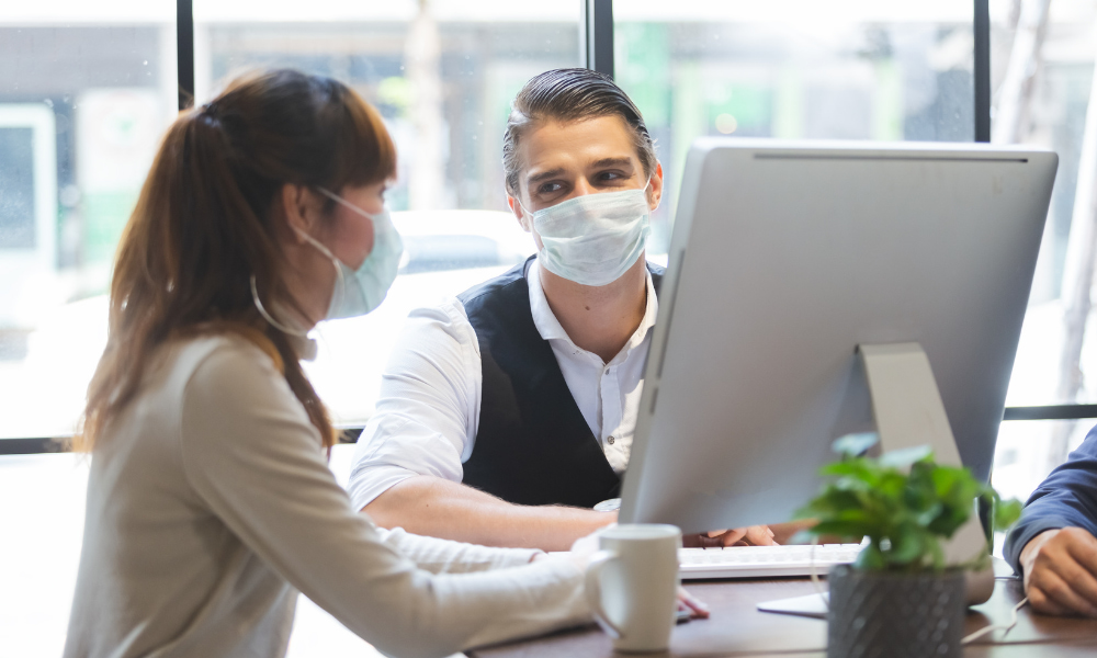 business conducting post-pandemic planning for businesses