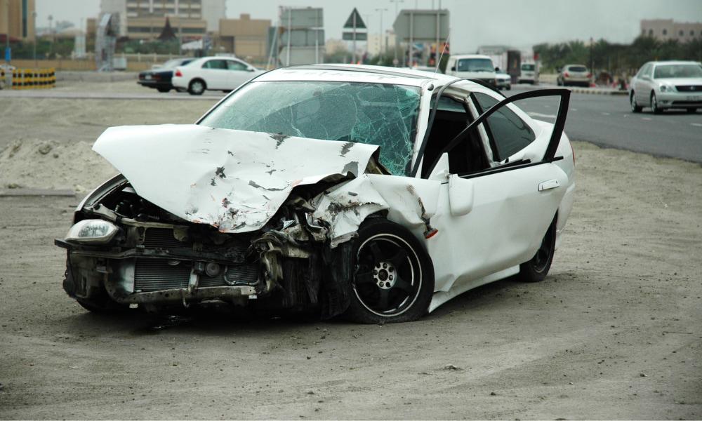 property damage from car crash