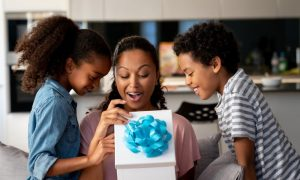 A woman and two children receive a gift and wonder are gifts tax deductible.